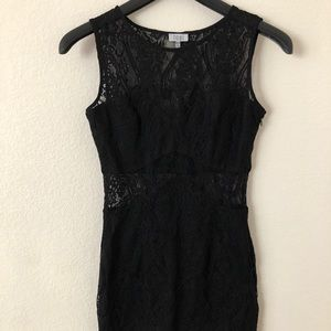 Black Cutout Mini Dress